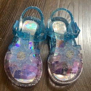 Frozen Toddler Jelly Light Up Sandals